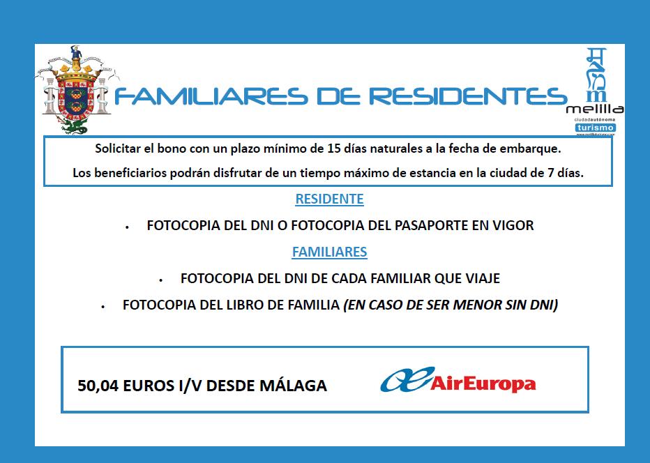 Air europa familiares de residetes