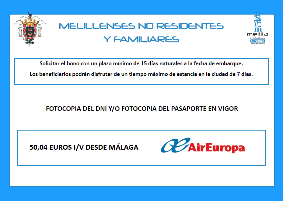 Air europa melillenses no residetes