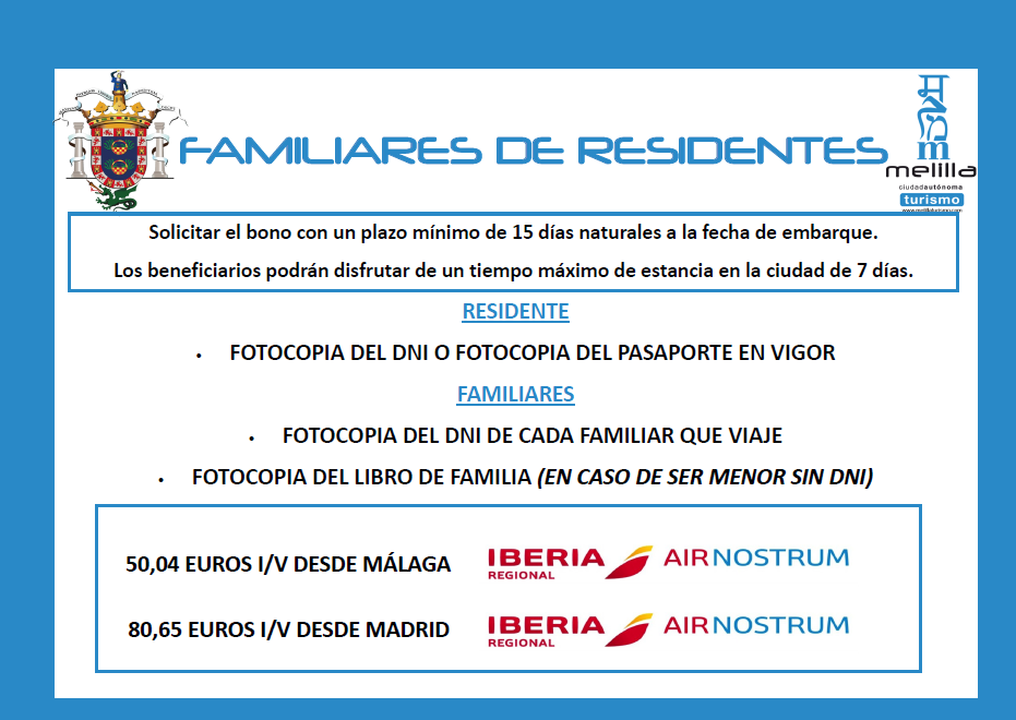 Iberia familiares de residetes