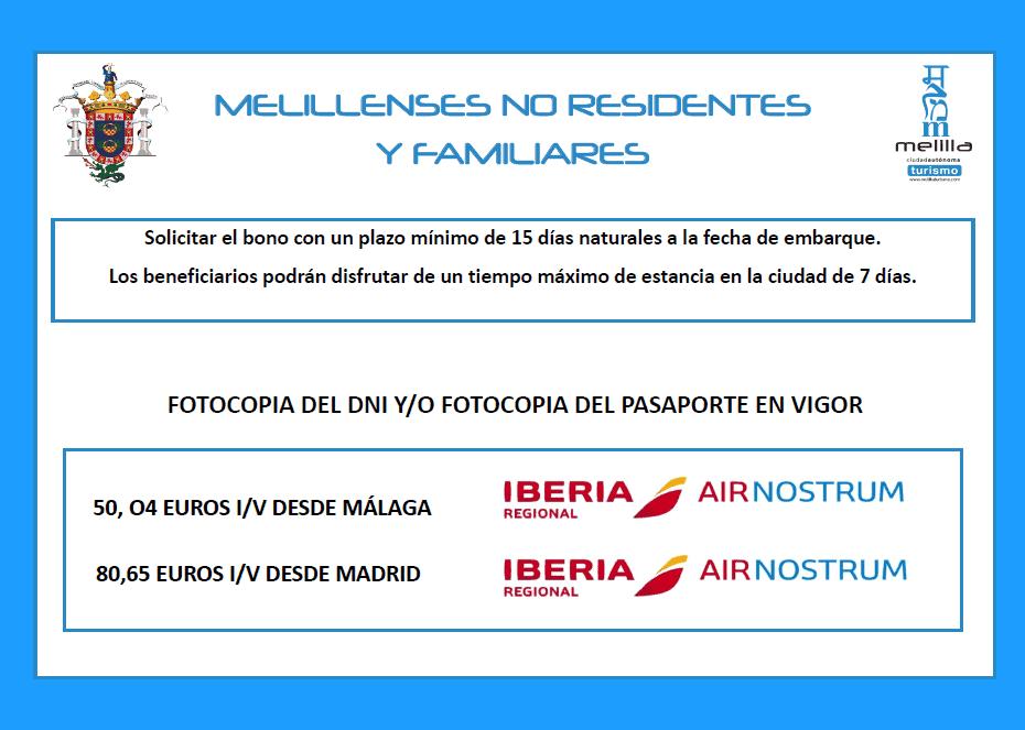 Iberia melillenses no residetes
